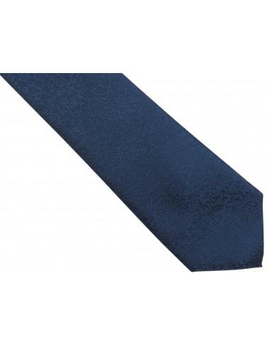 Granatowy krawat męski w delikatny...