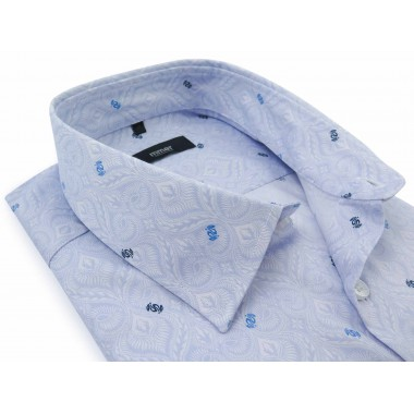 Błękitna koszula w...