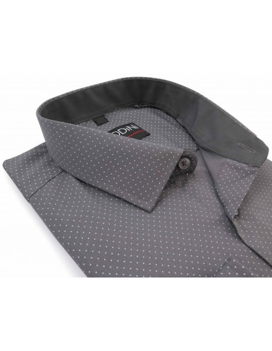 Szara koszula w białe kropki Y14