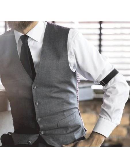 Czarne opaski do rękawów koszuli SK1
