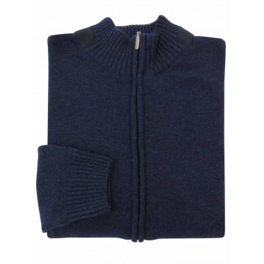 Granatowy sweter męski -...