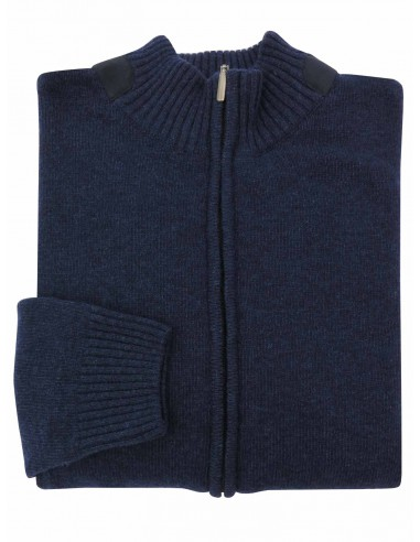 Granatowy sweter męski - półgolf...