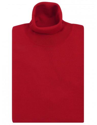 Czerwony golf męski Tris Line SW67