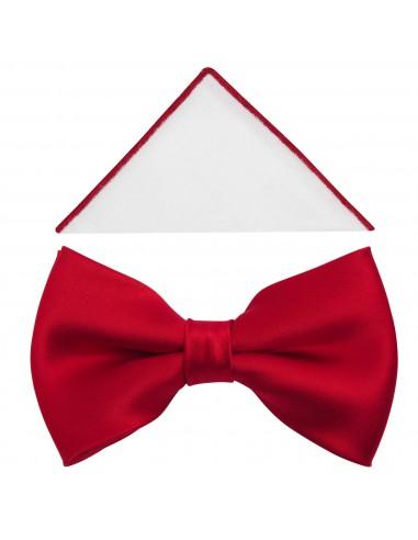 Czerwona elegancka mucha męska o...