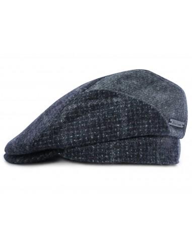 Szary kaszkiet/czapka męska w kratę G24