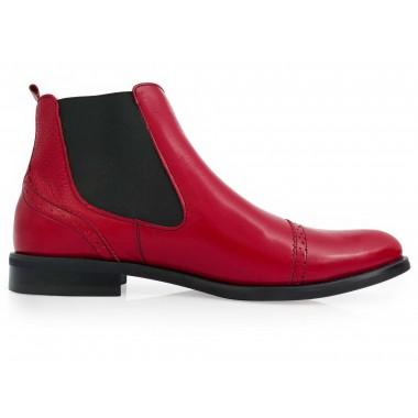 Modne czerwone męskie buty...