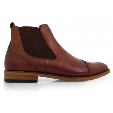 Modne brązowe męskie buty...