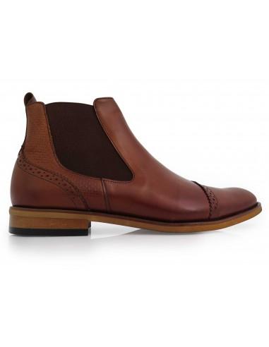 Modne brązowe męskie buty zimowe -...