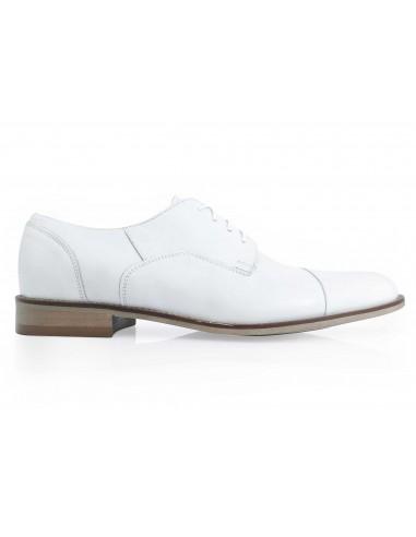Białe wizytowe obuwie męskie T150