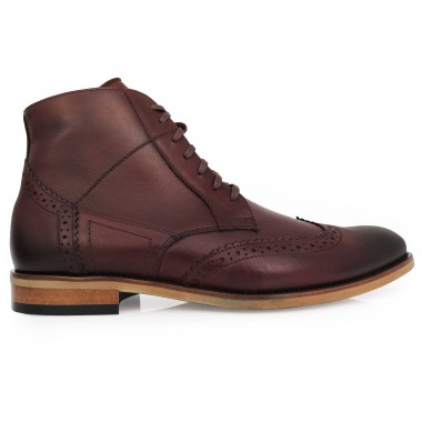 Skórzane brązowe buty...