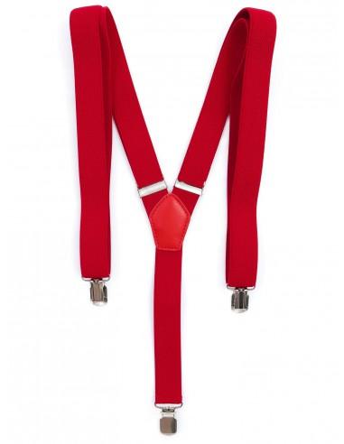 Czerwone Szelki Wąskie Unisex - 2,5cm x2