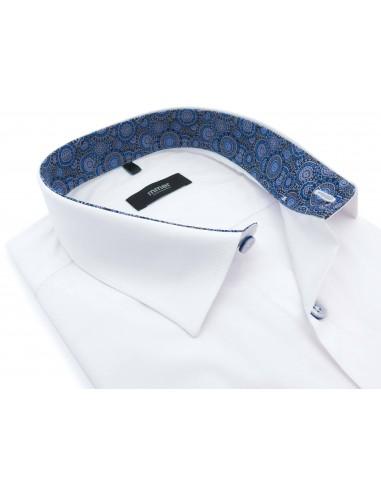 Biała koszula Mmer z niebieskimi...