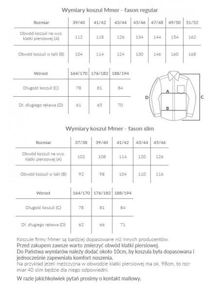 Granatowa koszula z kontrastem w kropki Mmer 223
