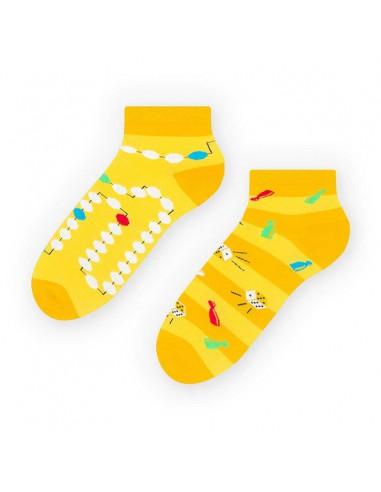 Żółte skarpetki/stopki dla fana...