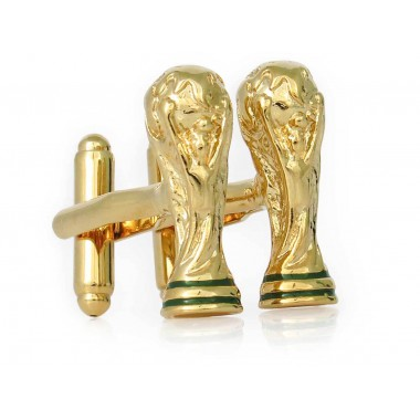 Złote spinki do mankietów -...