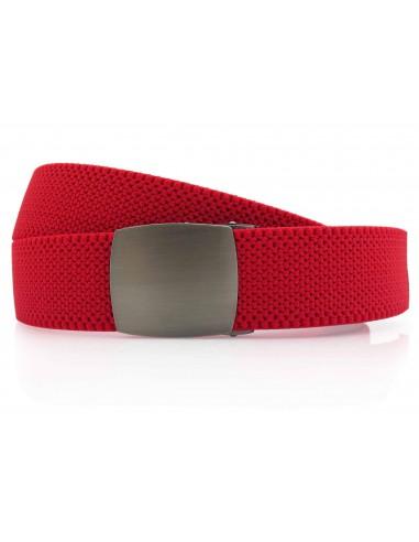 Czerwony elastyczny pasek do spodni z...