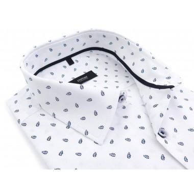 Biała koszula w listki na...