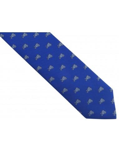 Niebieski/kobaltowy krawat męski -...