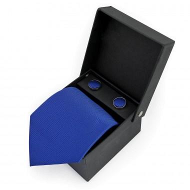 Niebieski jedwabny zestaw -...