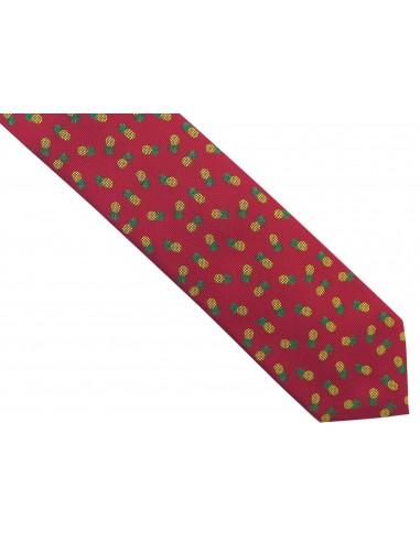 Ciemnoczerwony/bordowy krawat w...