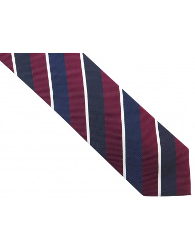Granatowy krawat męski w bordowe i...