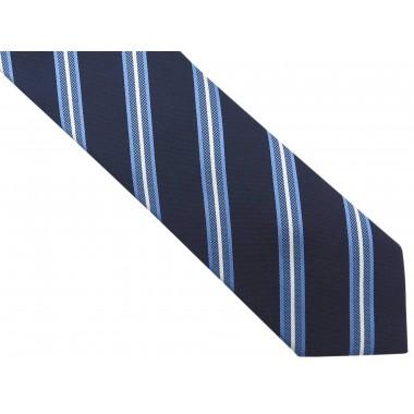 Granatowy krawat męski w...