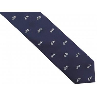 Wąski granatowy krawat...