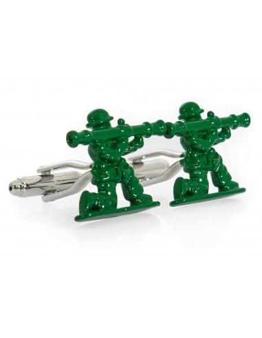 Zielone spinki do mankietów -...