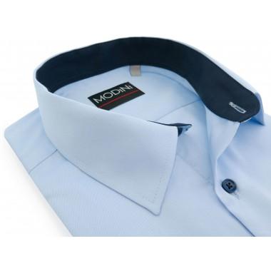 Błękitna koszula z krótkim...