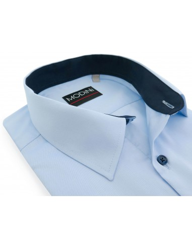 Błękitna koszula z krótkim rękawem MK10