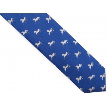 Niebieski krawat w białe...