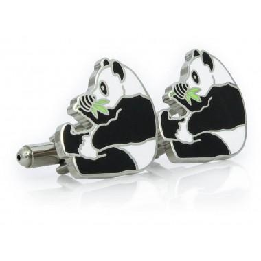 Spinki do mankietów - pandy...