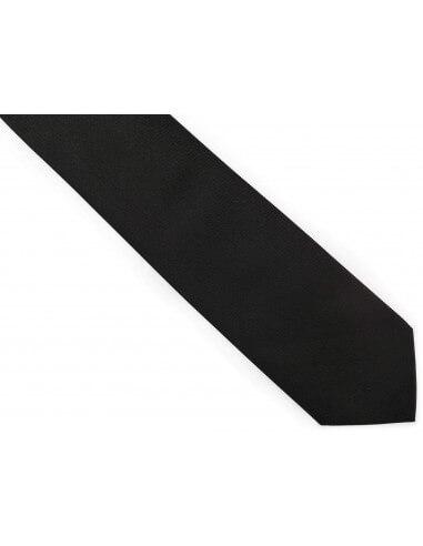 Czarny krawat męski, strukturalny...