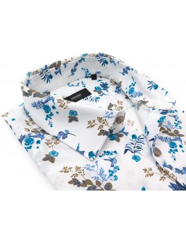 Biała koszula Mmer we wzór - kwiaty,...
