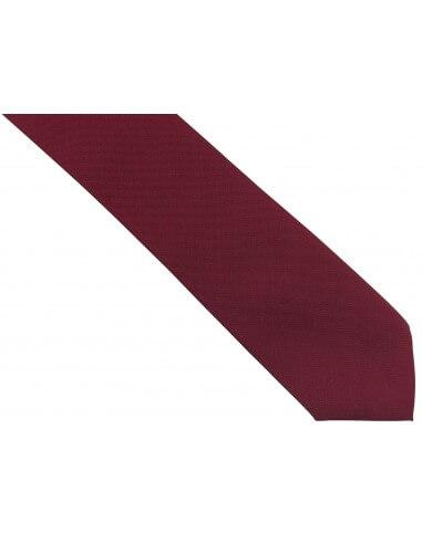 Bordowy krawat męski, strukturalny...