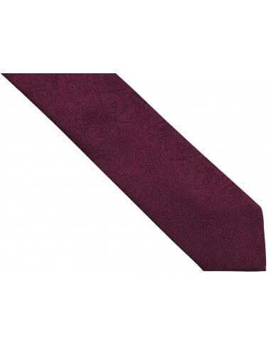 Bordowy/burgundowy krawat męski w...
