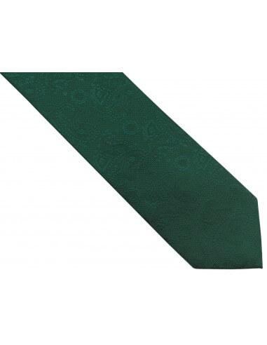 Zielony krawat męski w delikatny wzór...