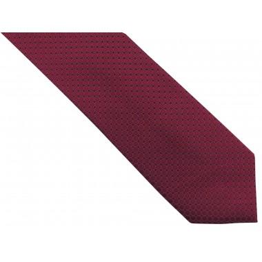 Bordowy krawat męski w...