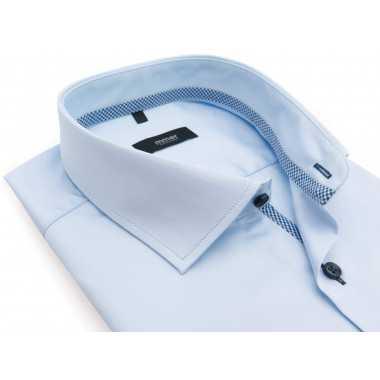 Błękitna koszula z długim...