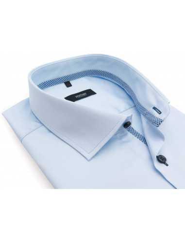 Błękitna koszula z długim rękawem...