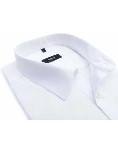 Biała koszula męska z krótkim rękawem...
