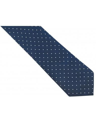 Granatowy jedwabny krawat w...