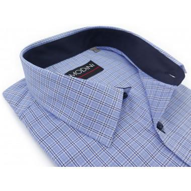 Błękitna koszula w kratkę,...