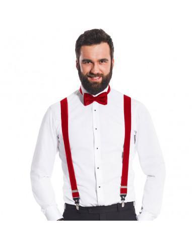 Czerwone szelki męskie do spodni SZ2