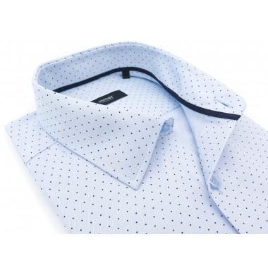 Błękitna koszula w splot w...