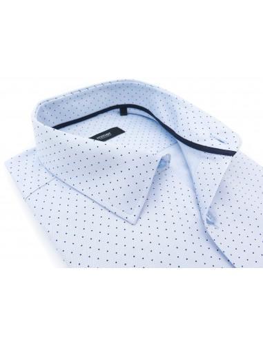 Błękitna koszula w splot w jodełkę i...