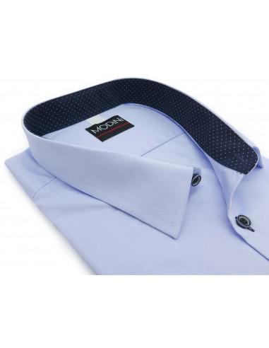 Błękitna koszula z krótkim rękawem i...