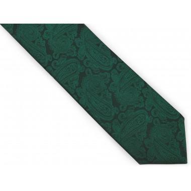 Zielony krawat męski we...