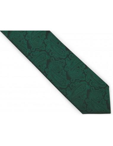 Zielony krawat męski we wzór -...