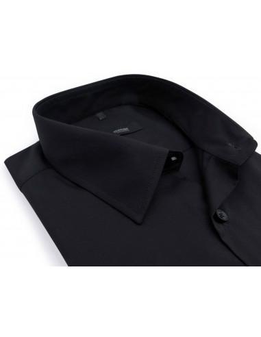 Czarna koszula męska MMER z długim...